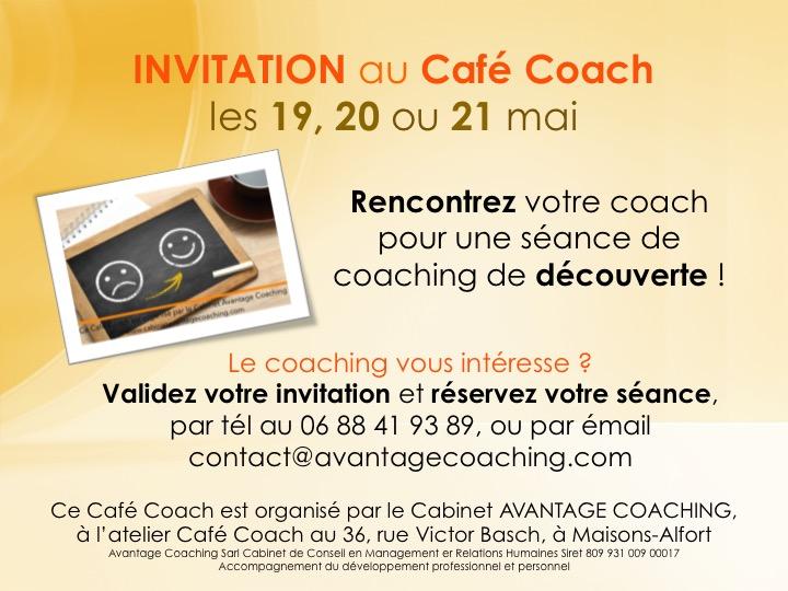 invitation au caf coach mai 2016 avantage coaching. Black Bedroom Furniture Sets. Home Design Ideas
