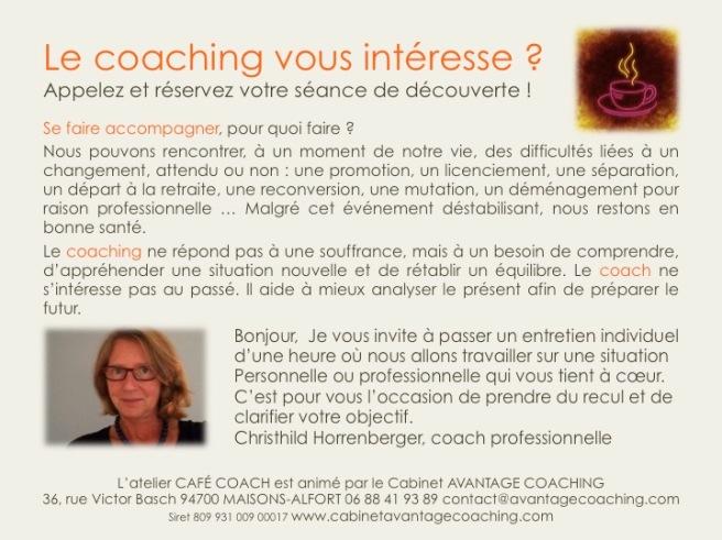 Le coaching vous intéresse.AC62016