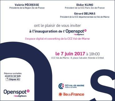 Inauguration de l'Openspot94