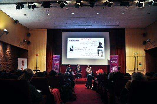 Les Journées de la Création 2017 - avec Valérie Pécresse, Présidente de la Région IDF, Clarisse Fageolles, Responsable RSE de Coca Cola France, et Véronique Saubot, Présidente de Force Femmes